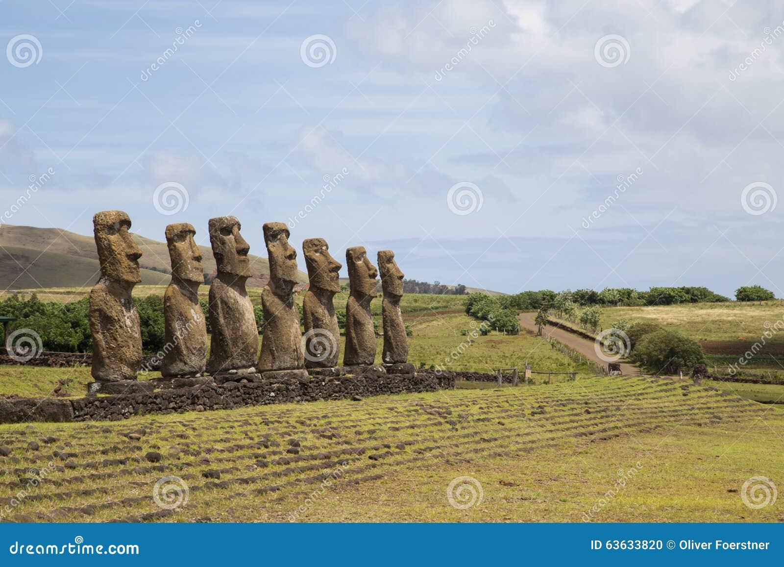 Ahu Akivi on Easter Island