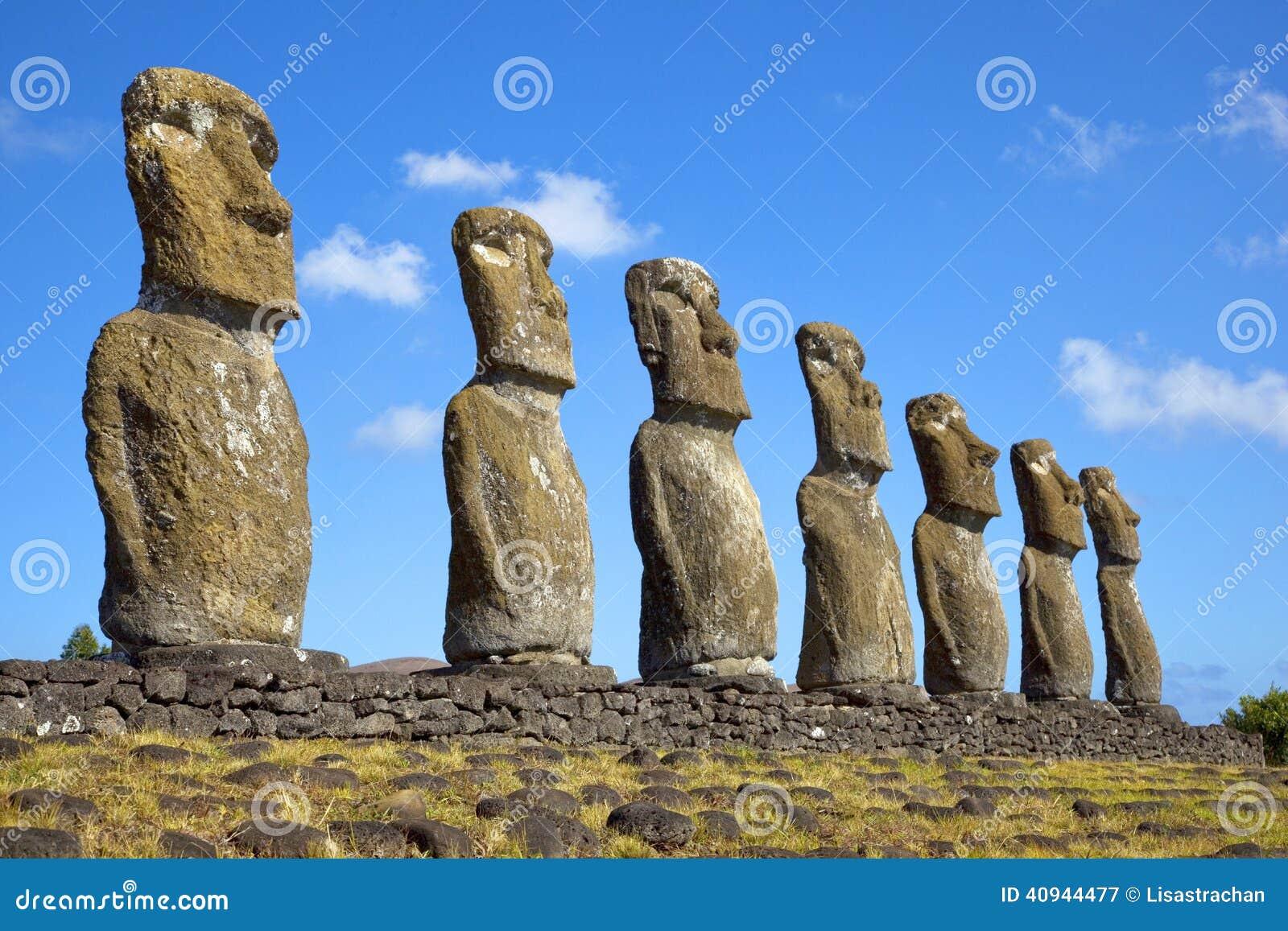 Ahu Akivi Moai, Rapa Nui,复活节岛,智利