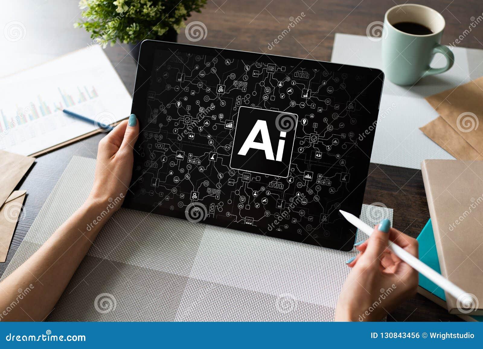 AI -人工智能、互联网、IOT和自动化概念