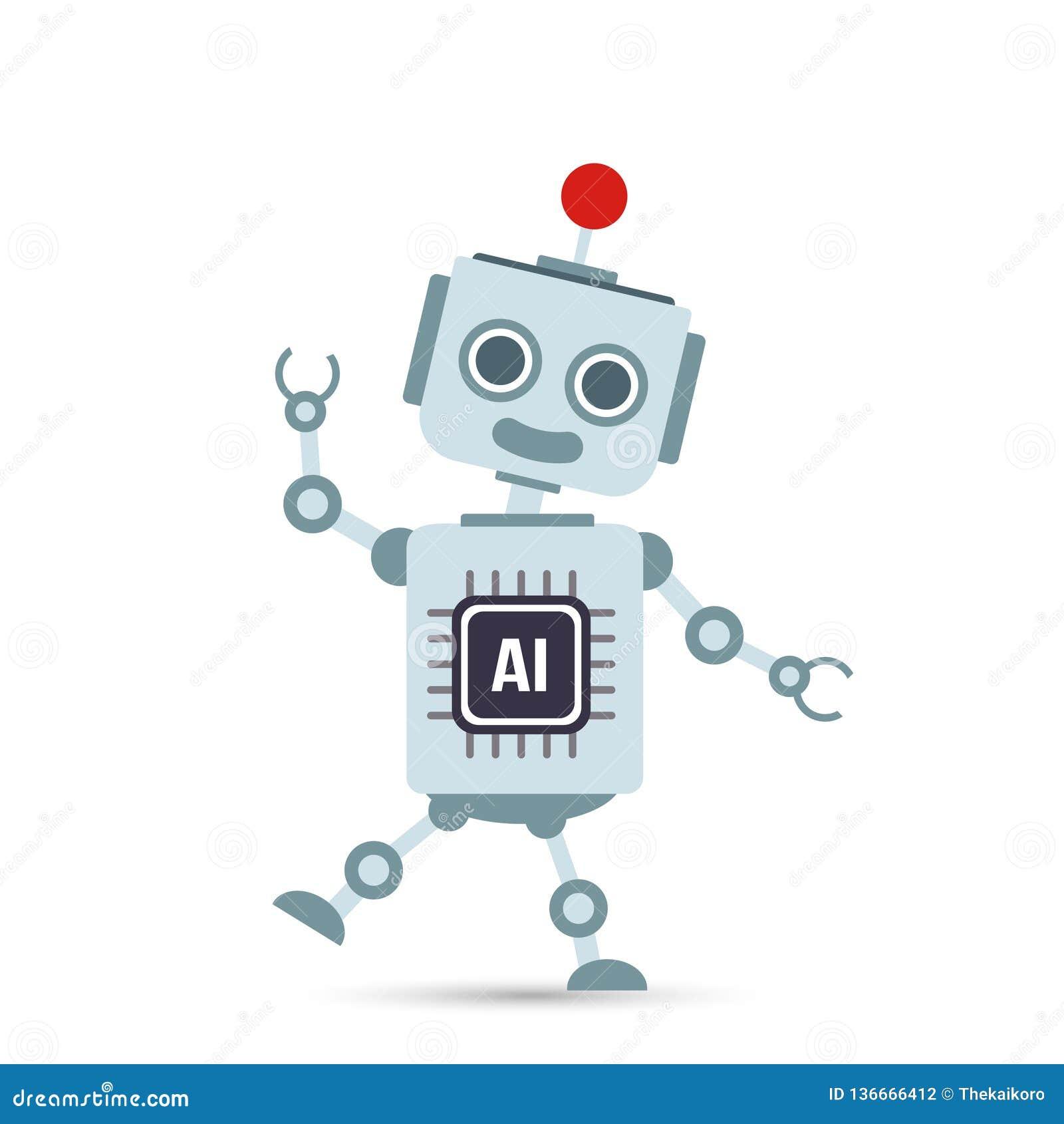 AI Artificial Intelligence Technology Robot Cartoon 20 Stock ...
