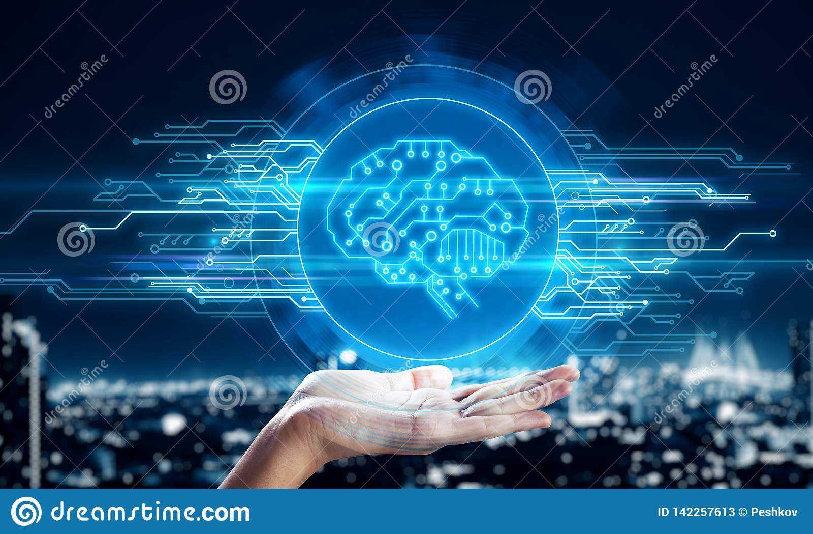 AI e conceito do Cyberspace