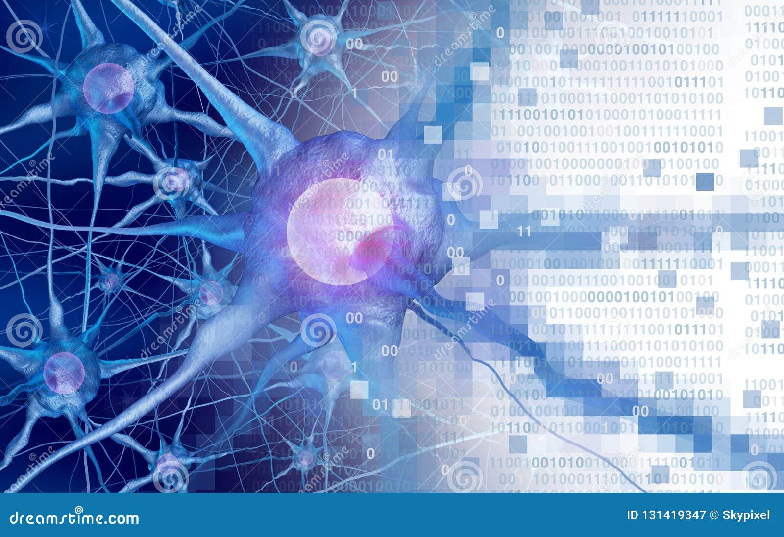 AI en neurologieaor digitaal de functieconcept van neurologiehersenen als kunstmatige intelligentie of virtuele werkelijkheidstec