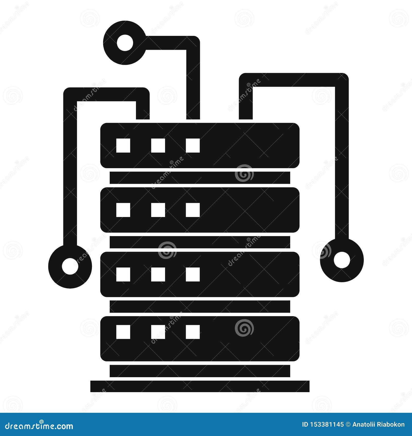 Ai het pictogram van het serverrek, eenvoudige stijl
