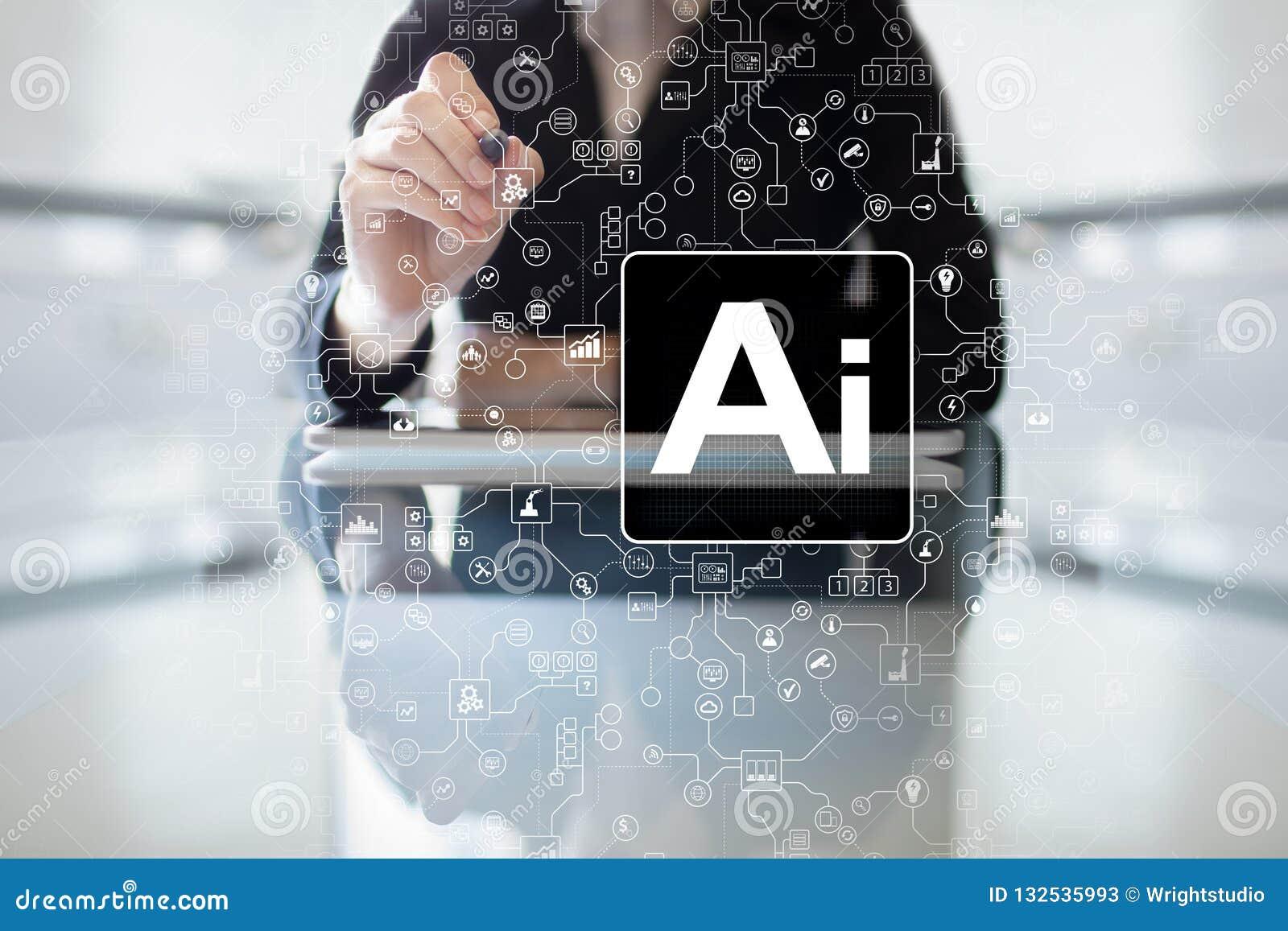 AI - Inteligencia artificial, tecnología e innovación elegante en negocio de la industria y concepto de la vida en la pantalla vi