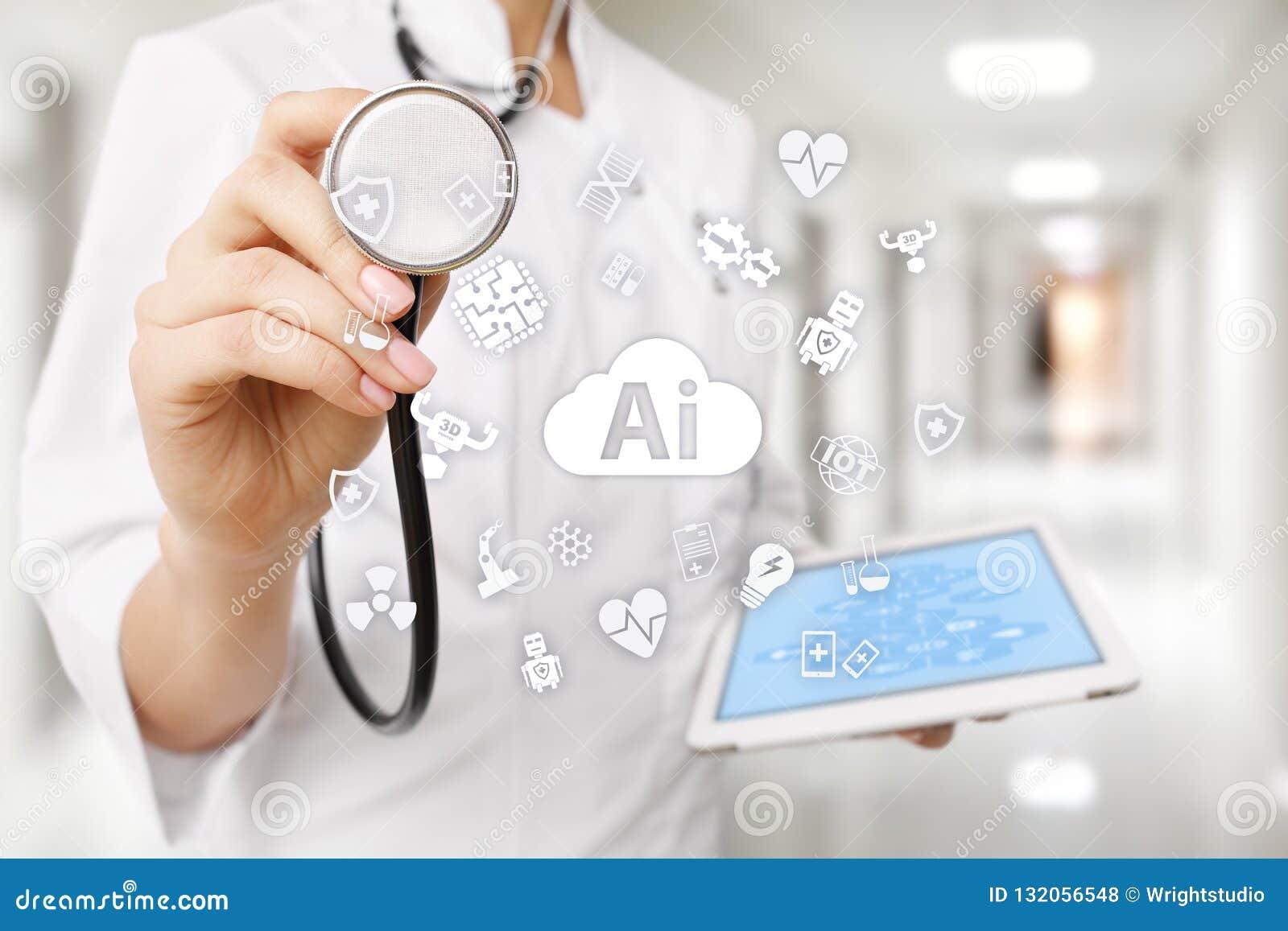 AI konstgjord intelligens, i modern medicinsk teknologi IOT och automation
