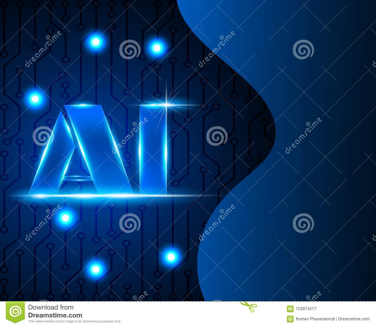 AI Letter Digital Artificial intelligence and big data Machine