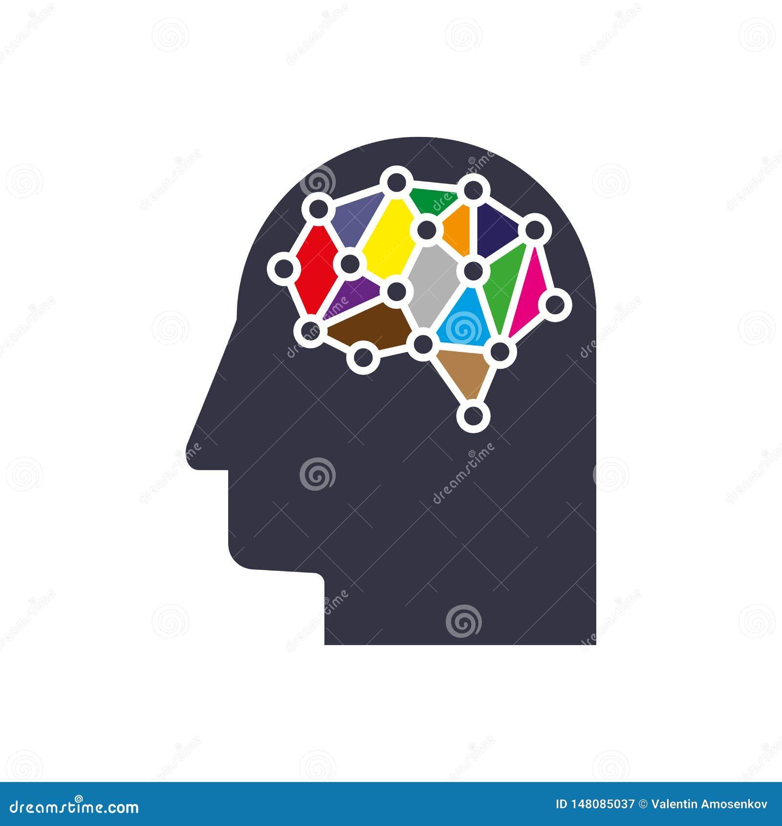 AI my?li systemu kreatywnie poj?cie Cyfrowej siatki m?drze m??d?kowy pomys? Futurystyczna antrakt neural sieci siatka ??czy