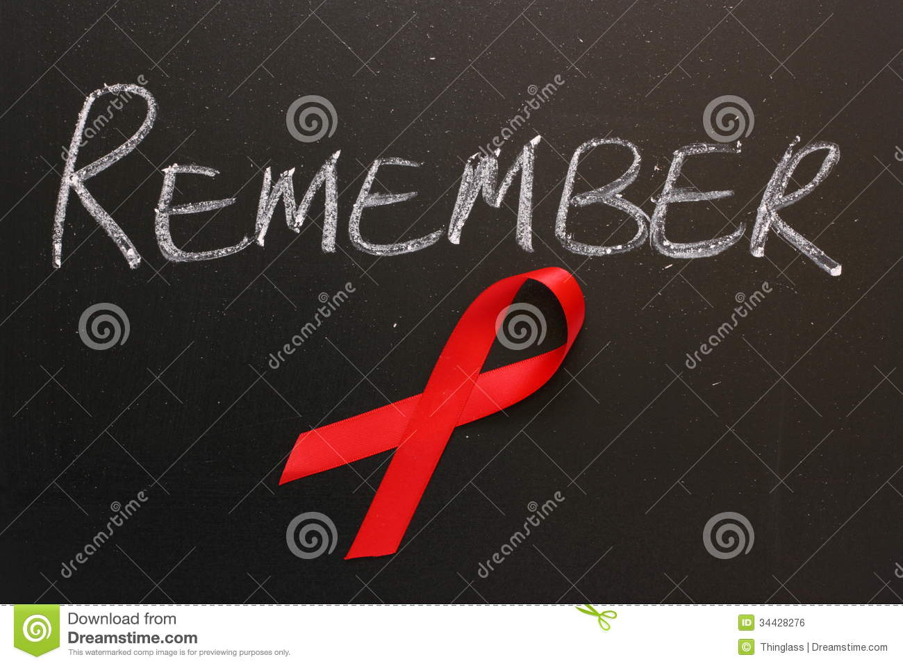 aids awareness remember royalty free stock image