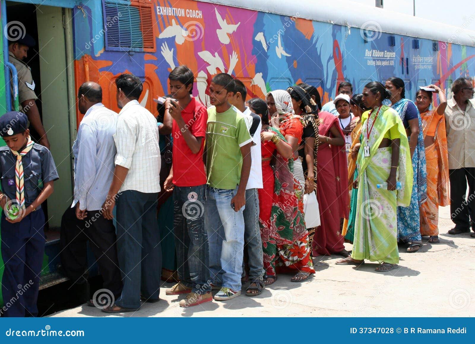 AIDS-/HIVmedvetenhet aktion-Indien