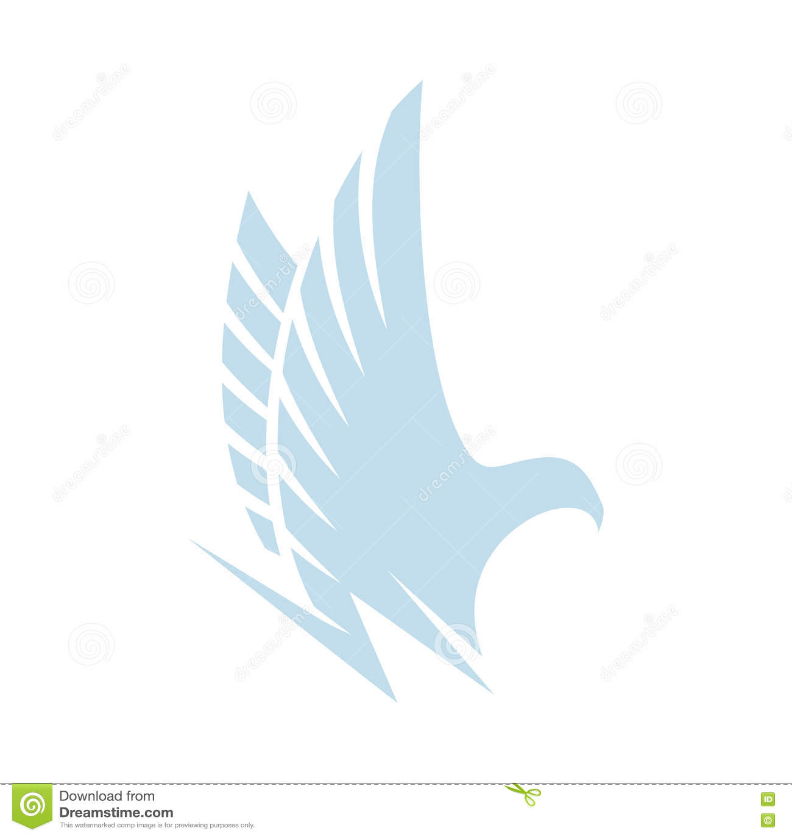 Aigle bleu abstrait d isolement de couleur, faucon de logo de silhouette de faucon Logotype dangereux d oiseau de chasse S envole