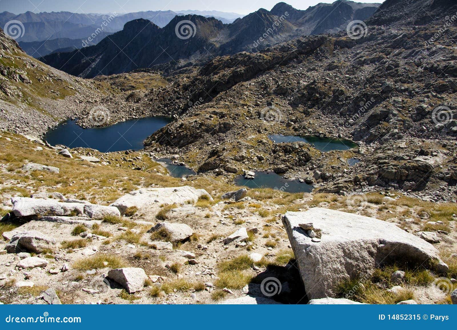 Aiguestortes national park - spain. Autumn day