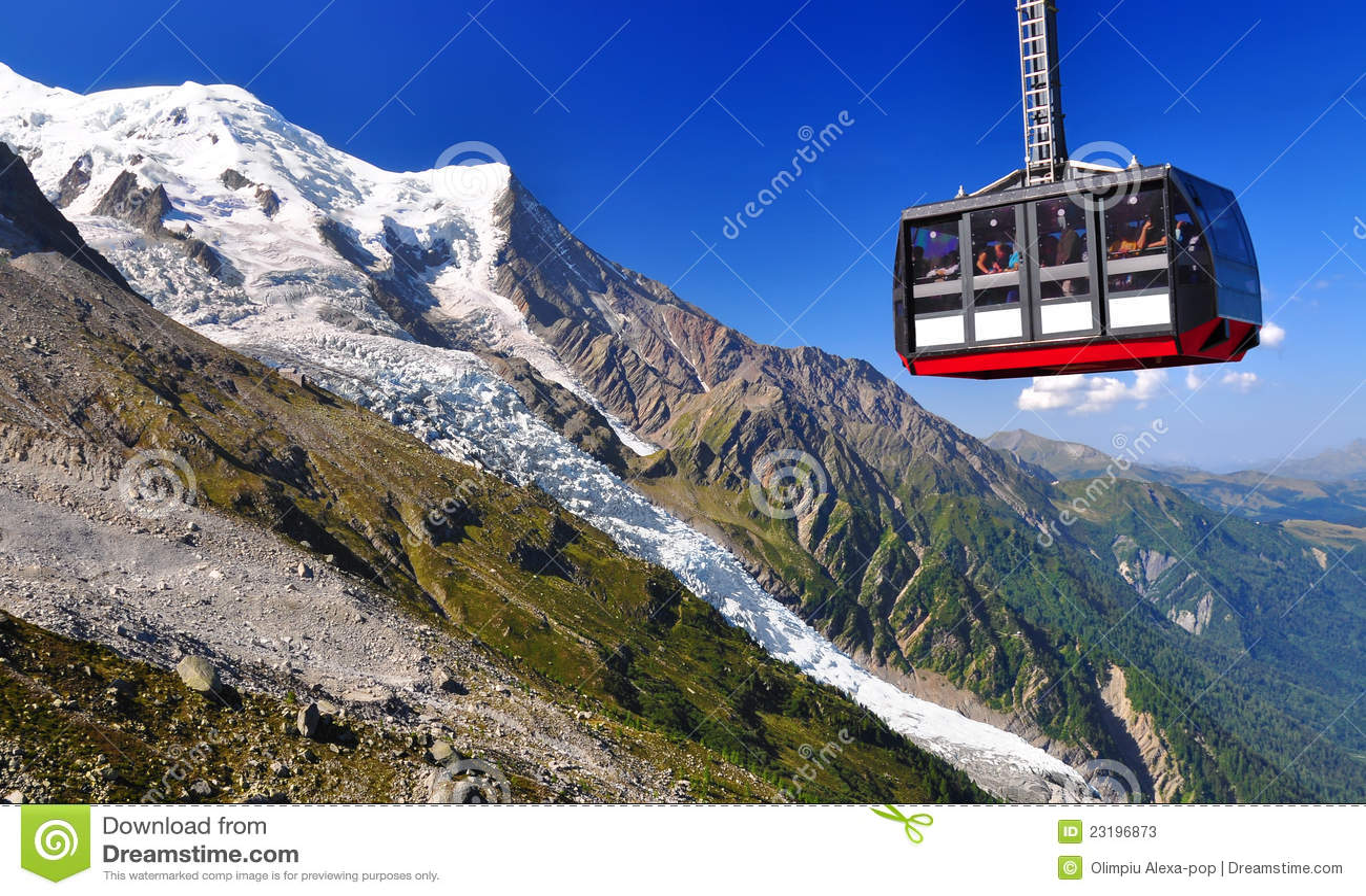 Aiguille du Midi cable car in Chamonix