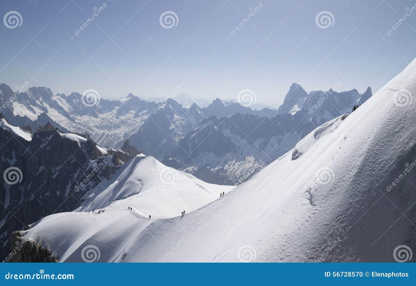 Aiguille du Midi, Mont Blanc-massief, Franse Alpen