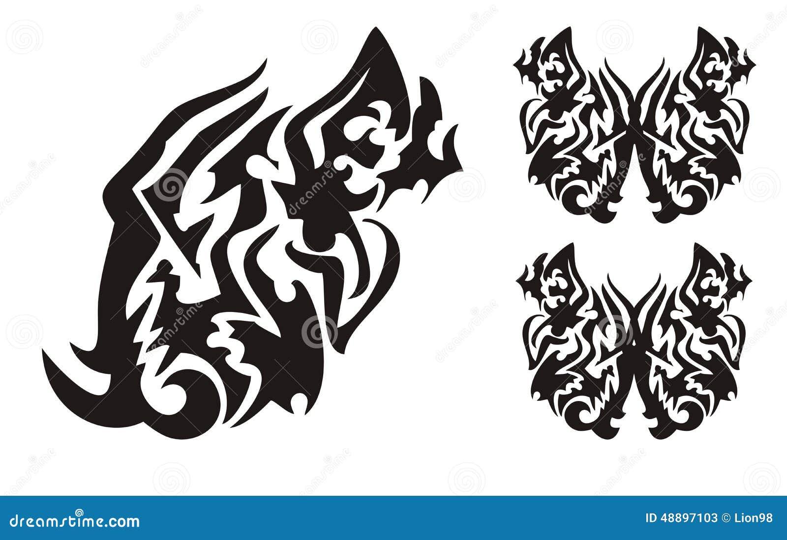 tatouage dragon avec des ailes