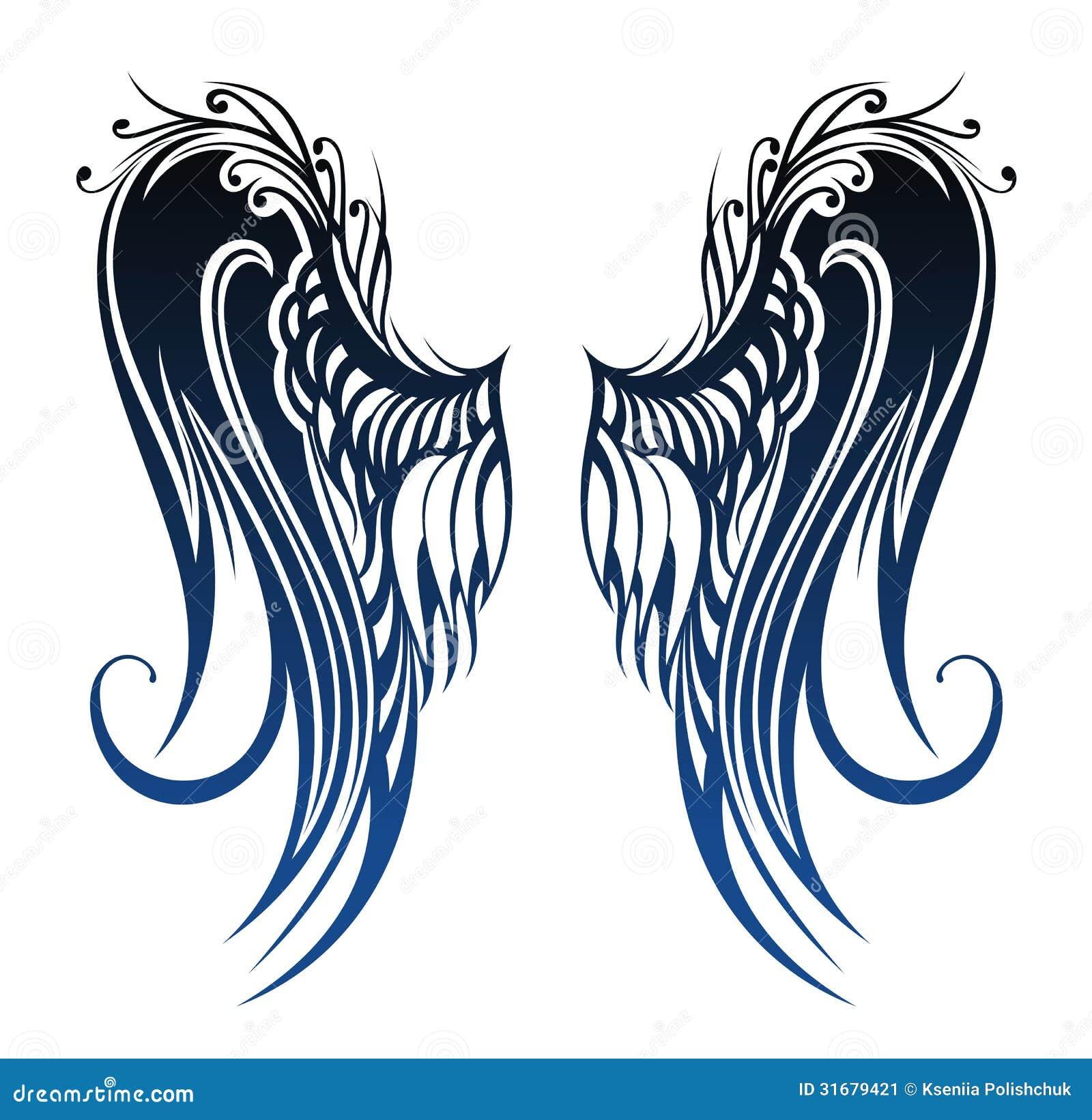 Ailes Conception De Tatouage Image Stock Image 31679421