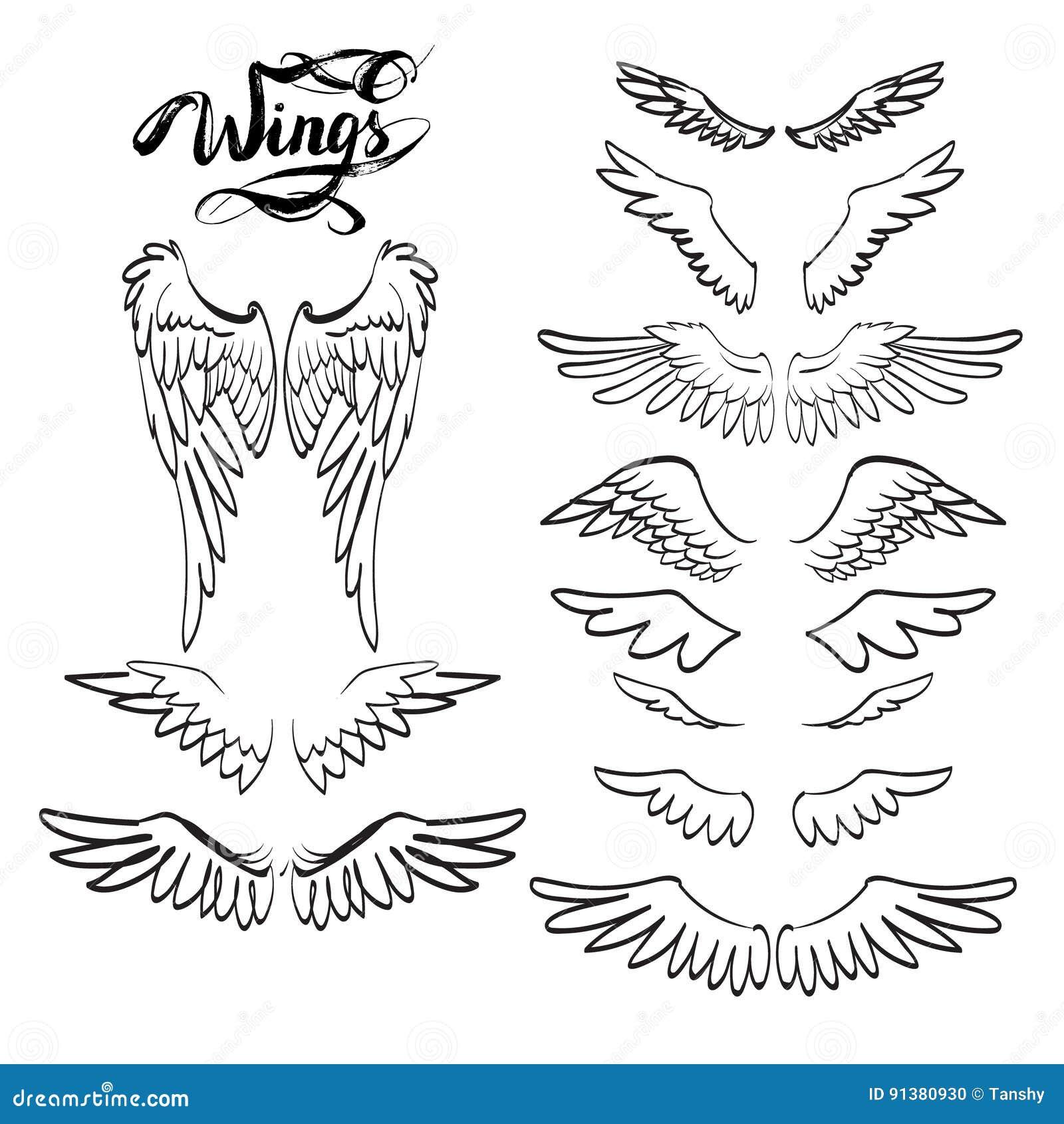 Ailes D Ange Dessin ailes d'ange, lettrage, dessin illustration stock - illustration du