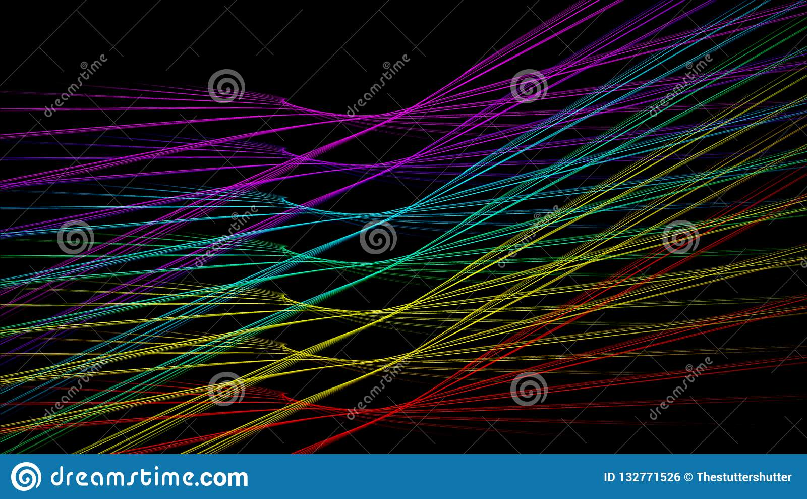 Ailes de course de lumière de fond d arc-en-ciel