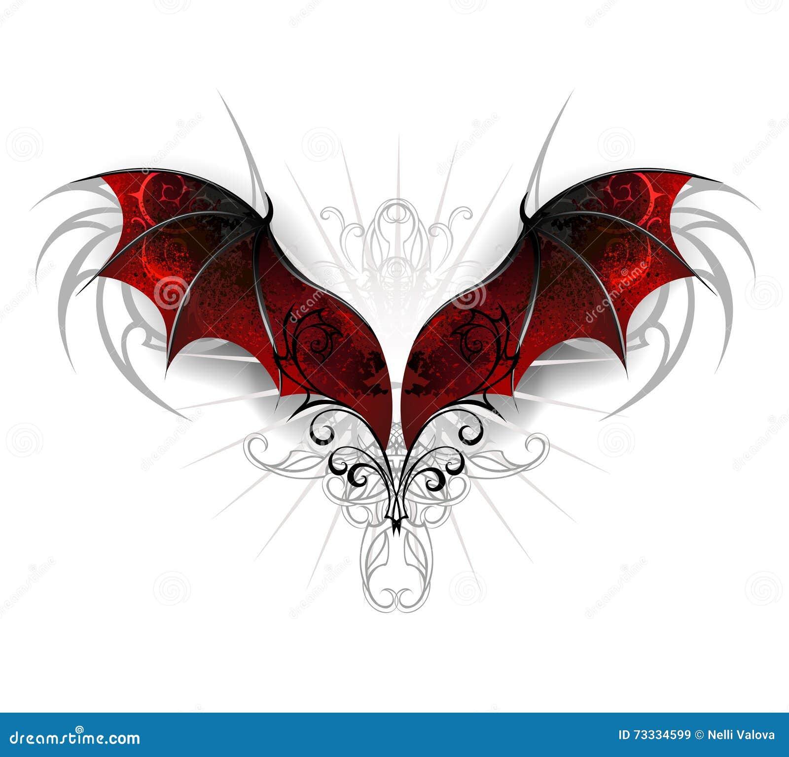 Ailes de dragon illustration de vecteur illustration du - Aile de dragon dessin ...