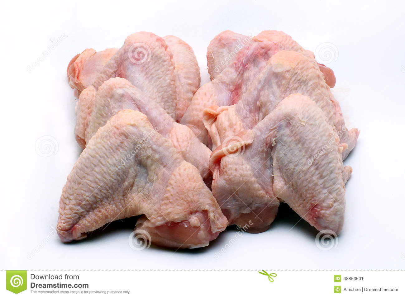 Ailes de poulet crues photo stock image 48853501 - Cuisiner des ailes de poulet ...