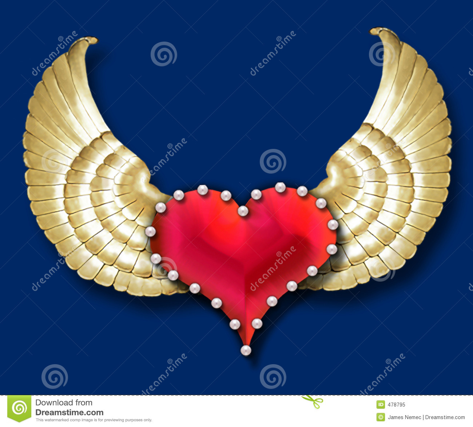 Ailes du coeur w/golden