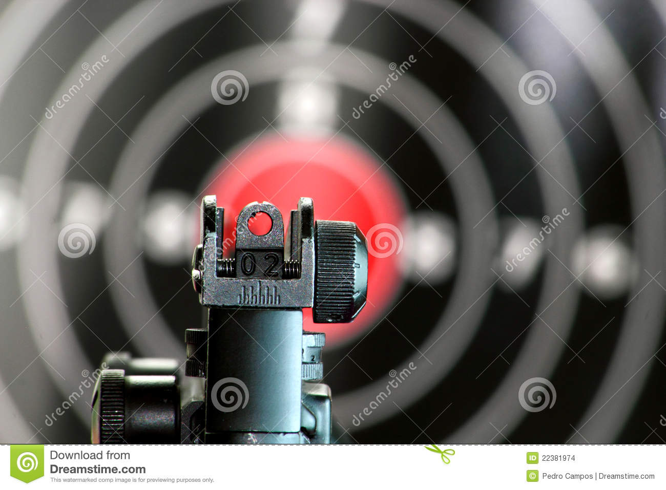 how to aim open sights