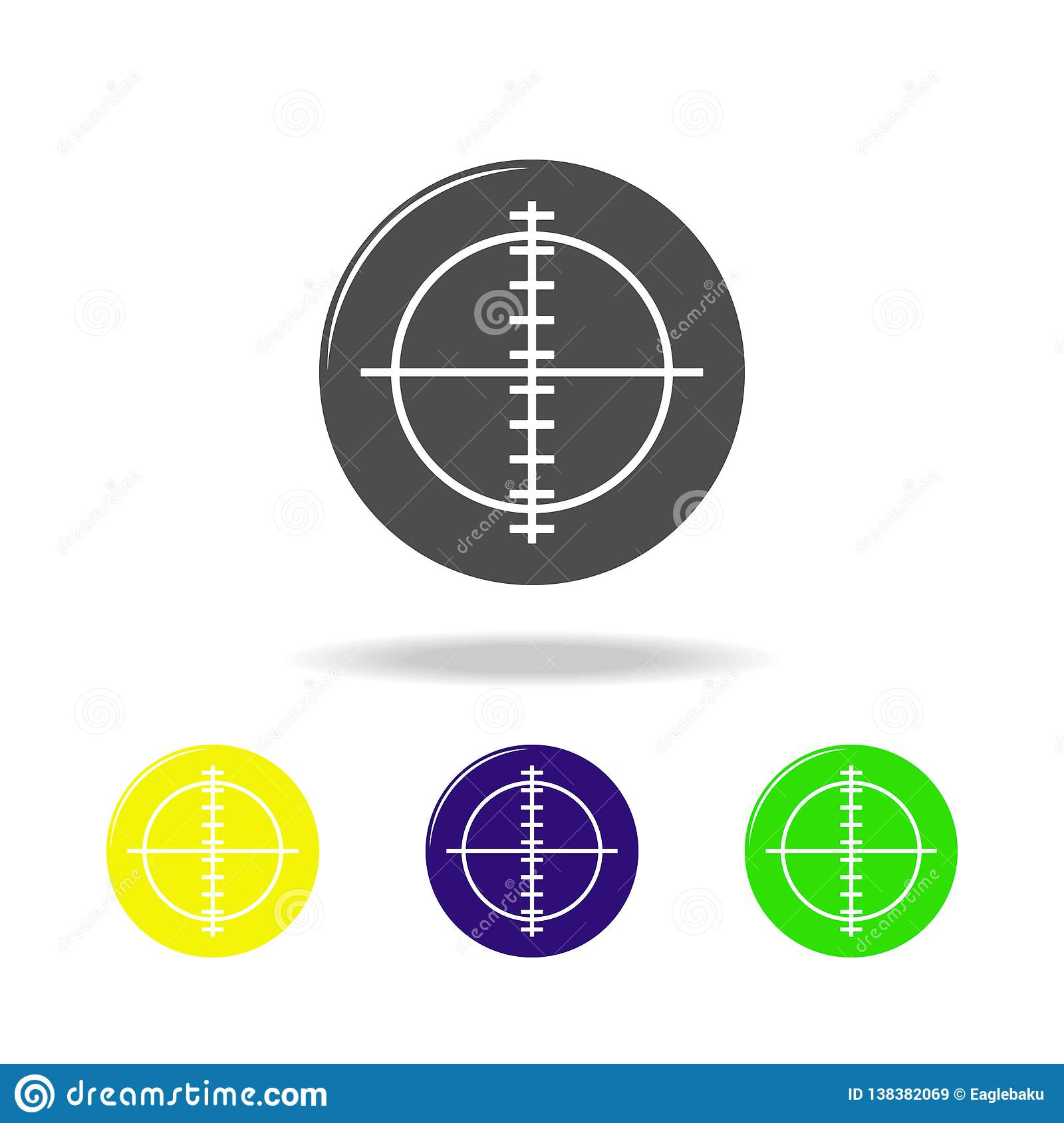 Aim, Weapon Colored Icons  Element Of Military Illustration