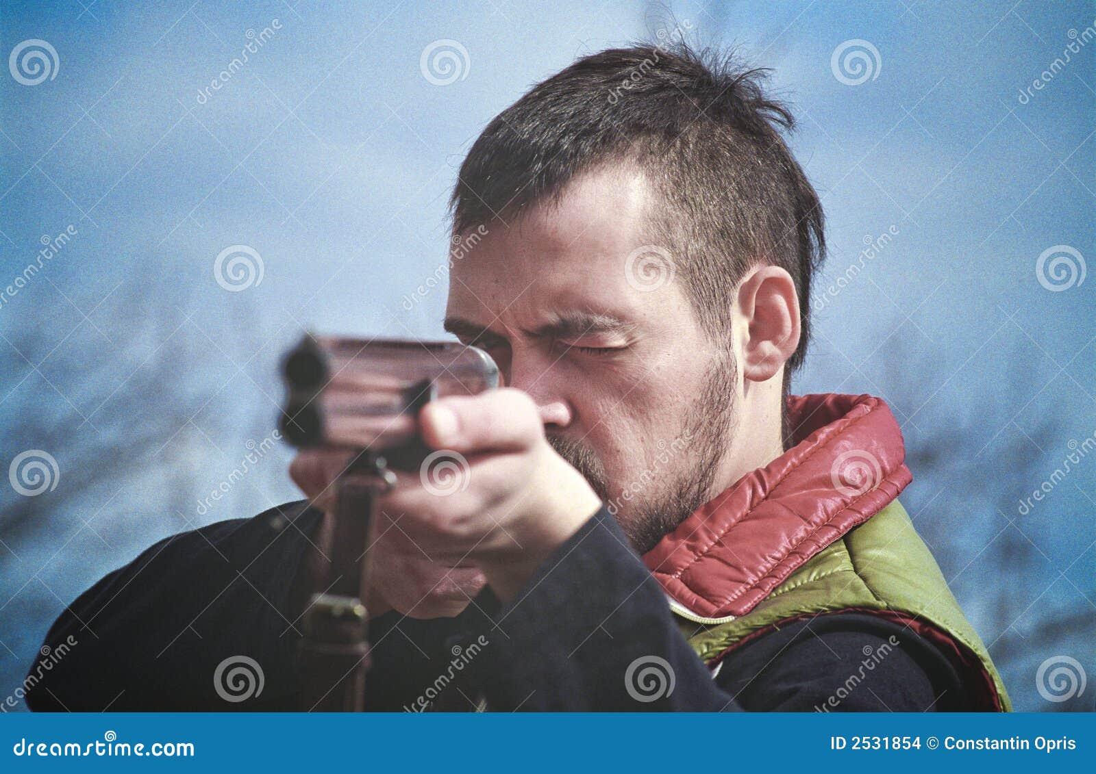 Aiming Shotgun Stock Images - Image: 2531854