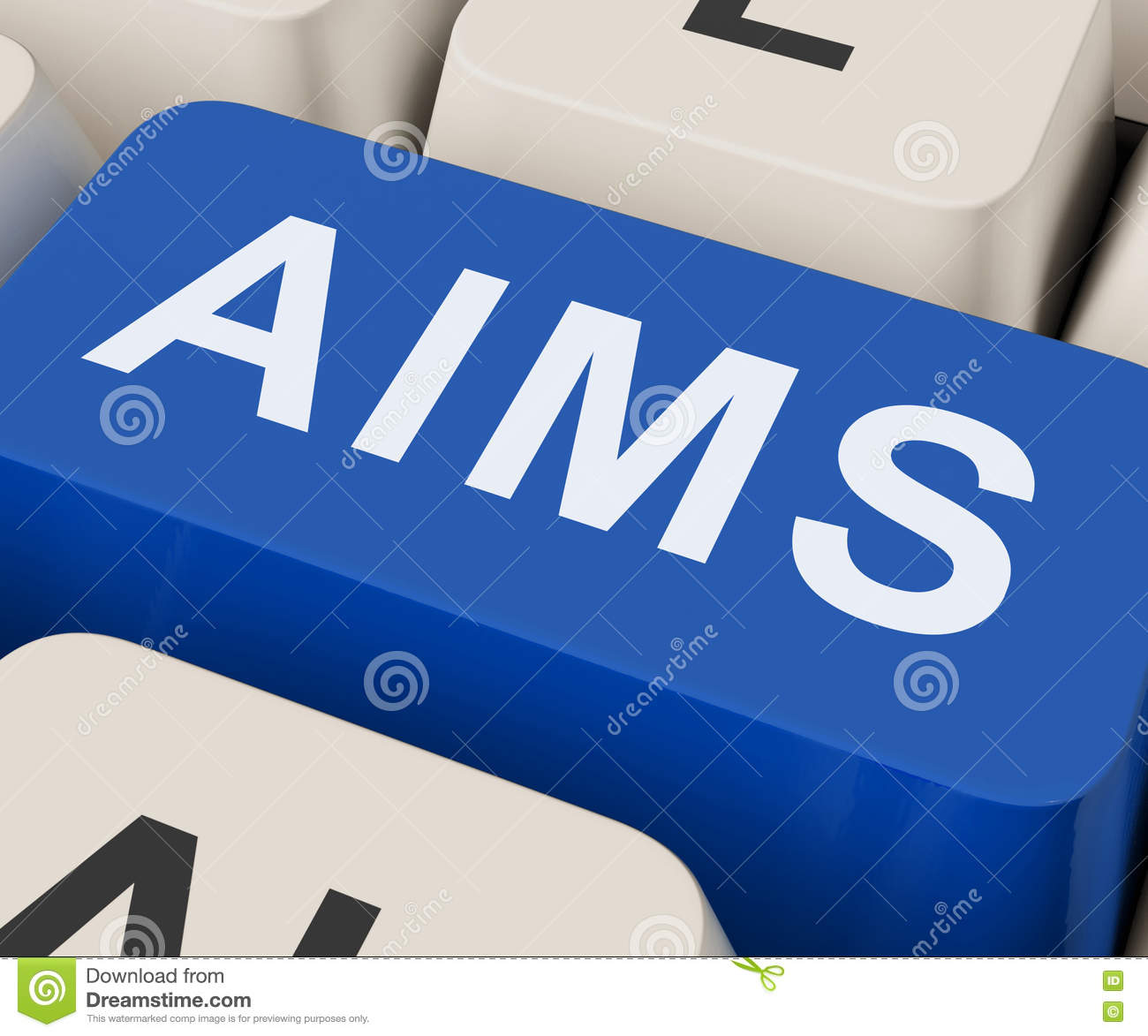 Aims Key Shows Goals Purpose And Aspirations