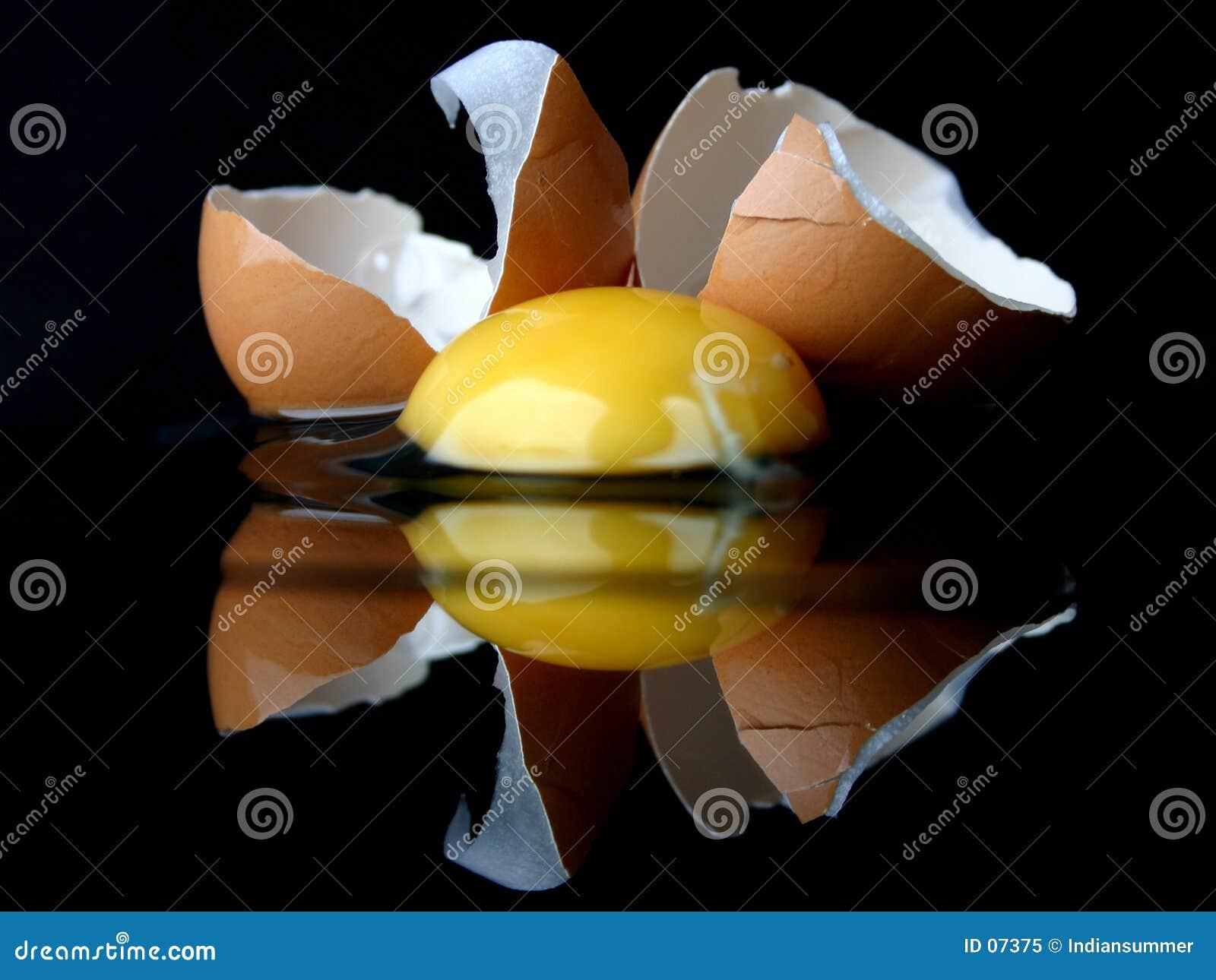 Ainda-vida com um ovo quebrado III