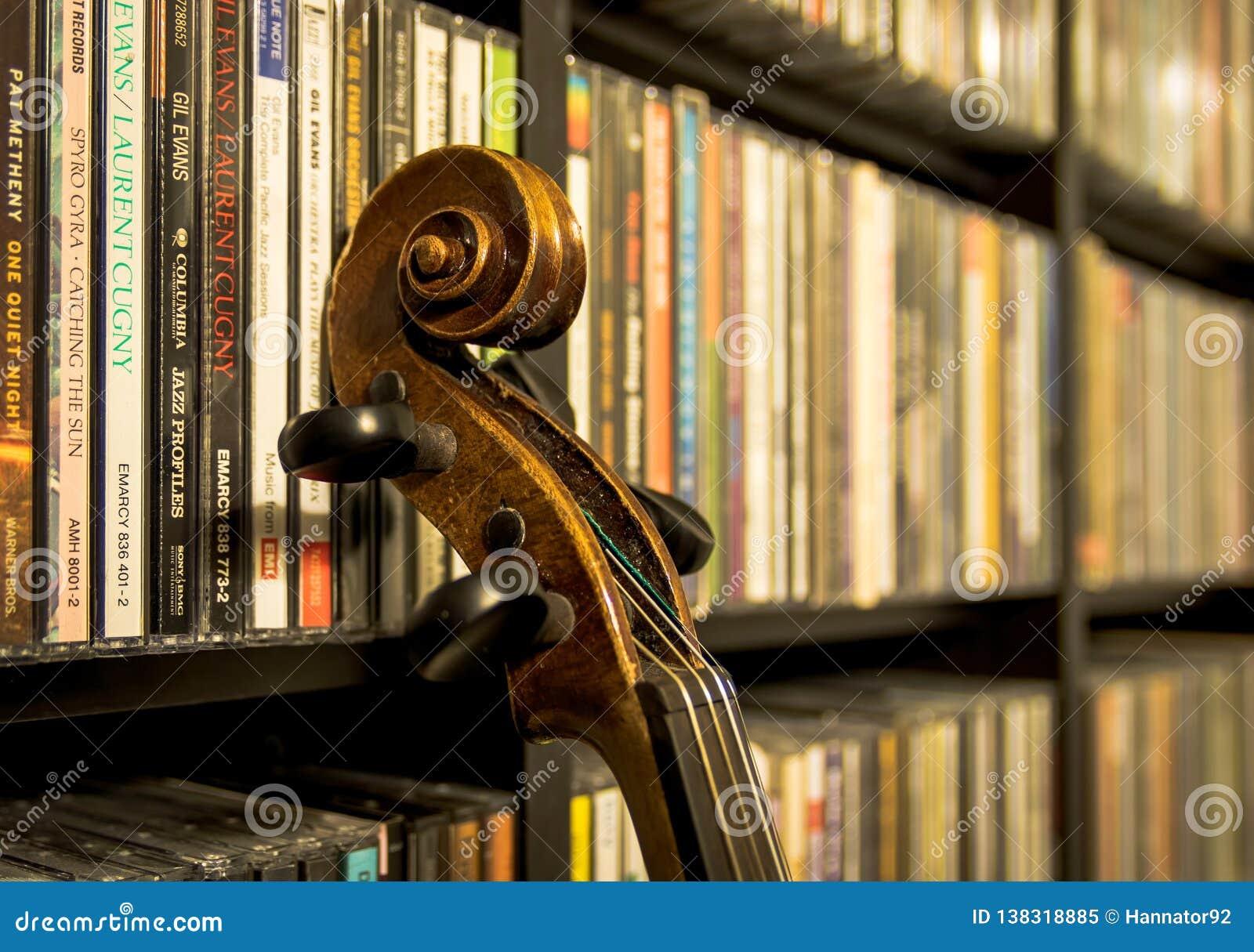 Ainda vida com um violino velho