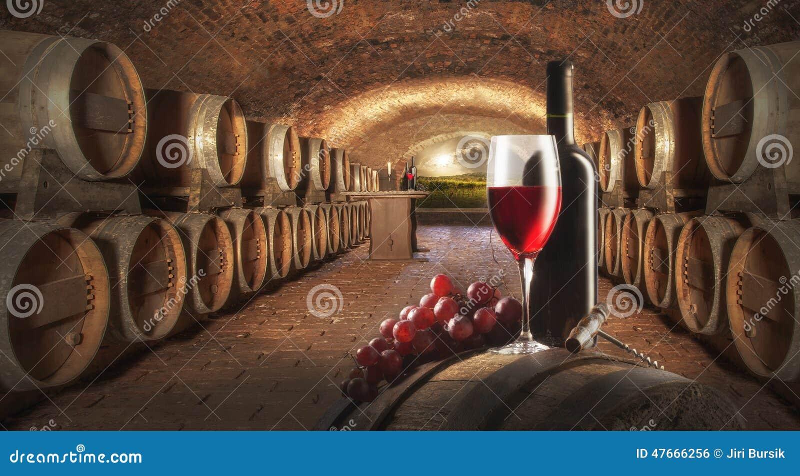 Ainda vida com vinho vermelho