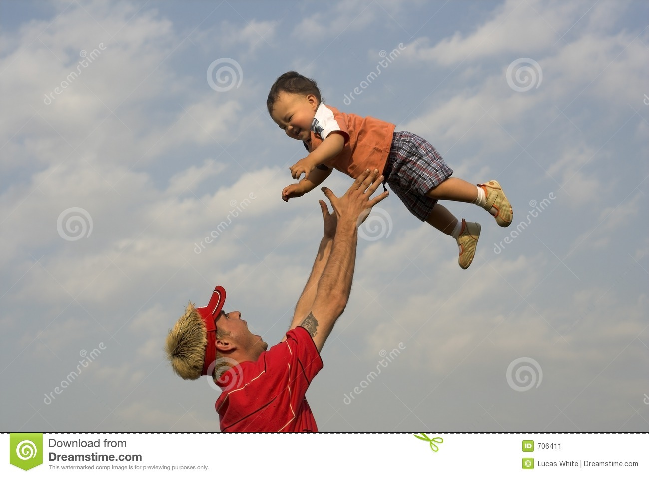 Air Baby stock image. Image of cute, child, throw, bond ...