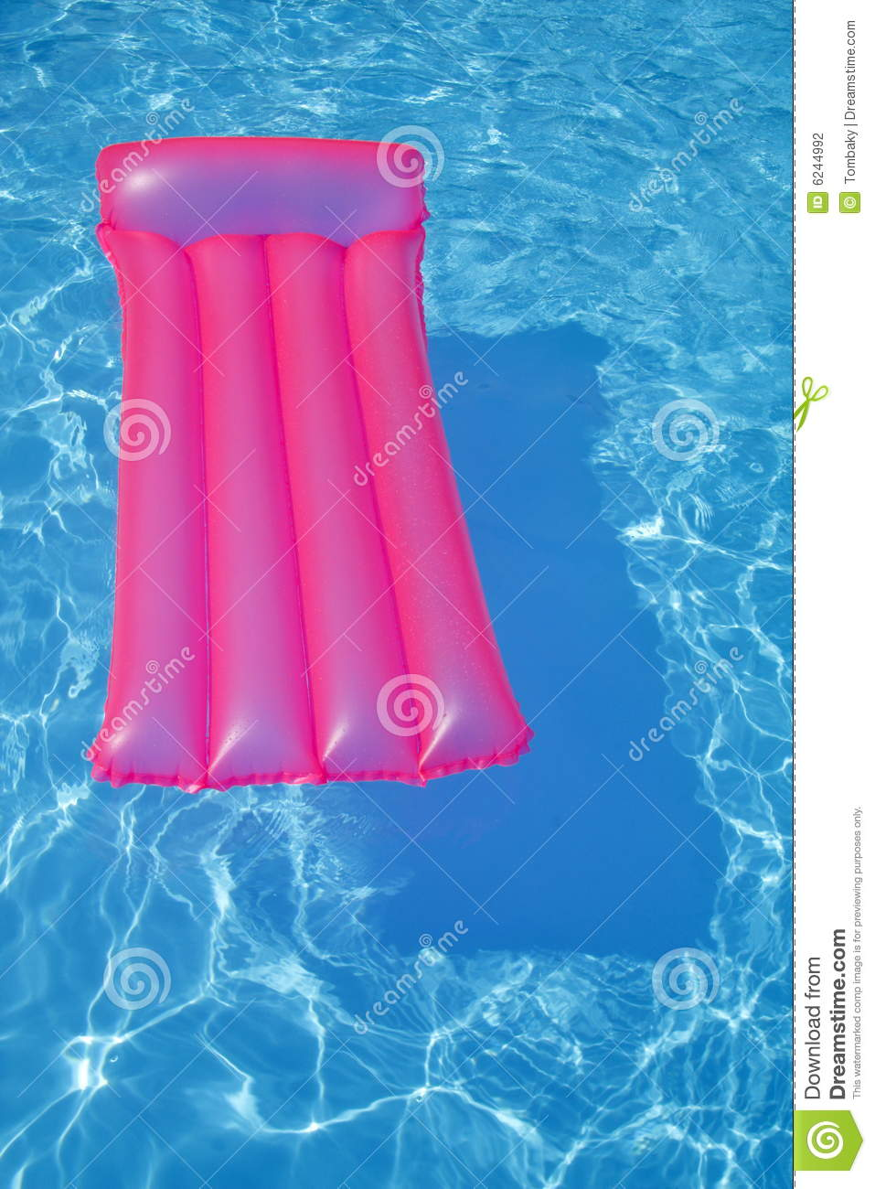 Air bed in swimming pool stock photo image of blue clear for Swimming pool bed