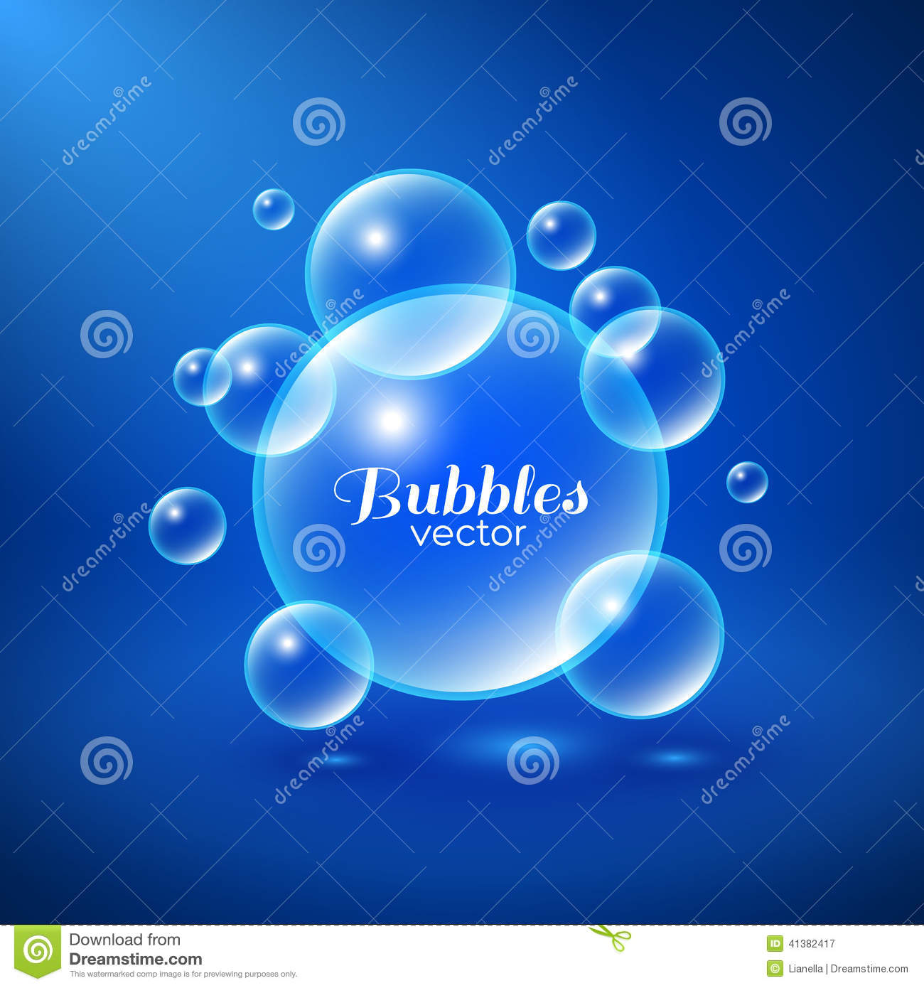 Air Bubbles Background Stock Vector - Image: 41382417