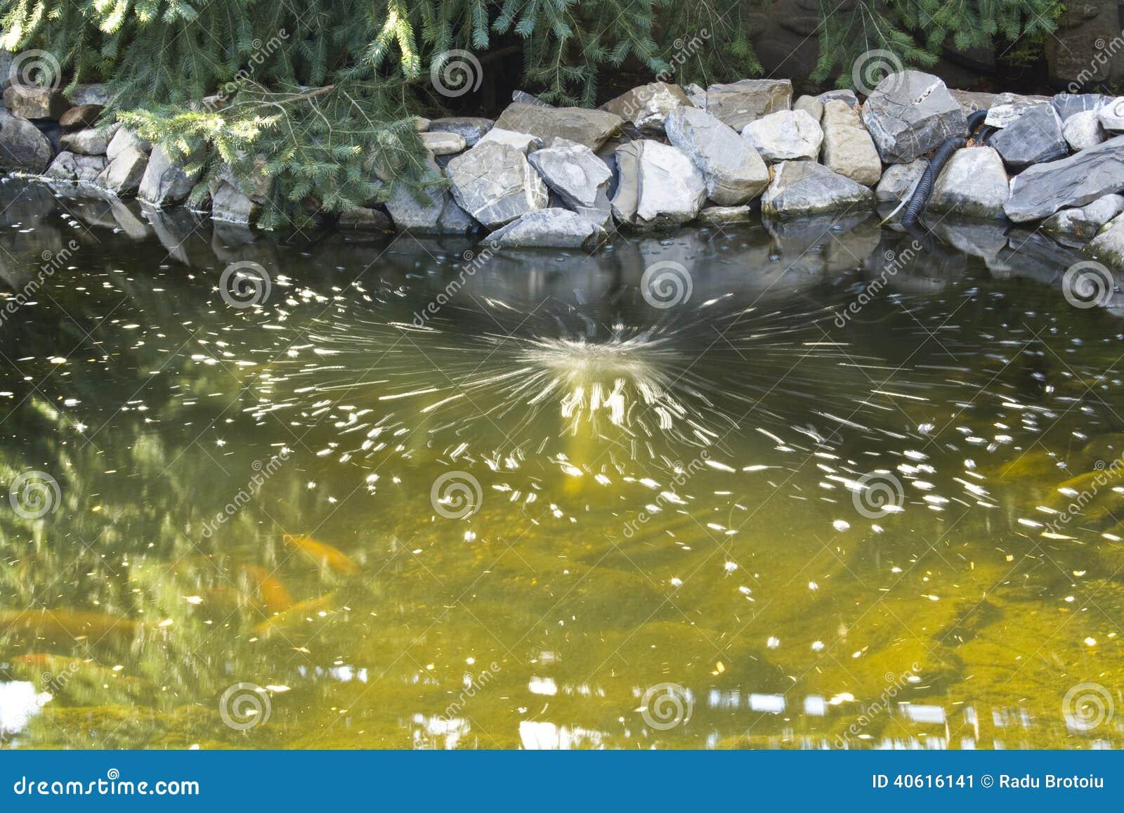 Air bubbles for Koi pond bubble