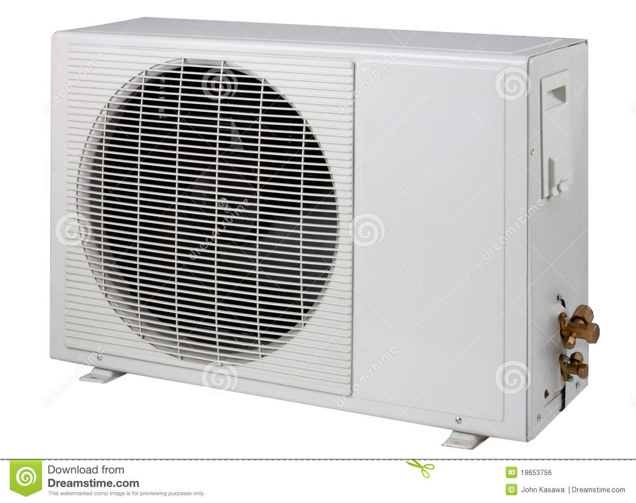air conditioner condensing cooling systems unit is stock photo