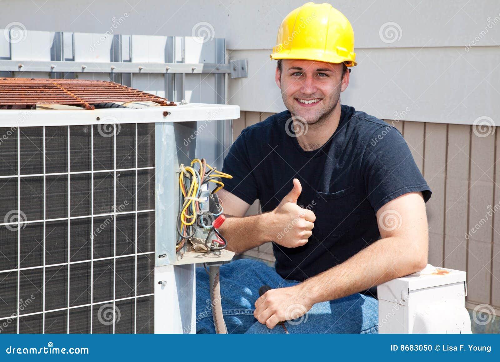 Air Condioner Repairman Thumbsup