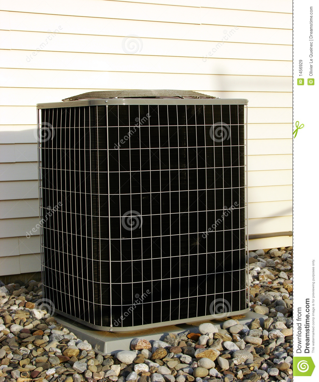 Air Conditioner Ac Condenser Unit Outside House Royalty