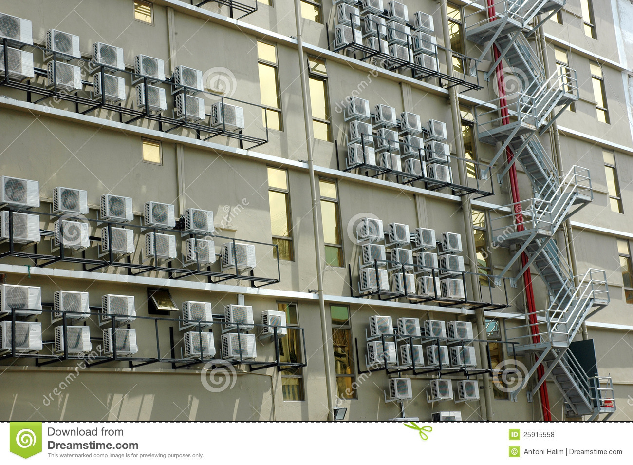 Air Conditioner On A Building Stock Photo Image Of