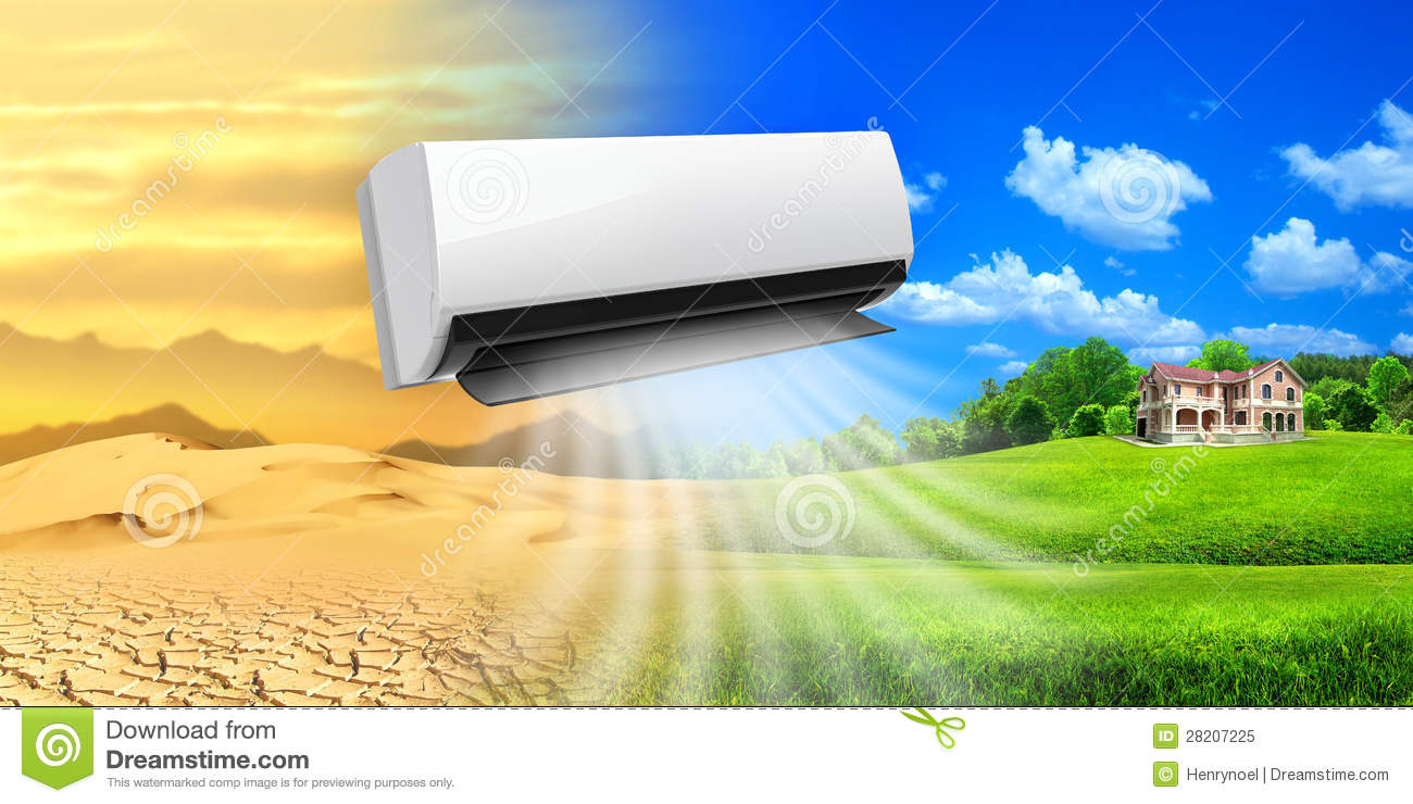Air Conditioner Comfortable Life Stock Image Image Of