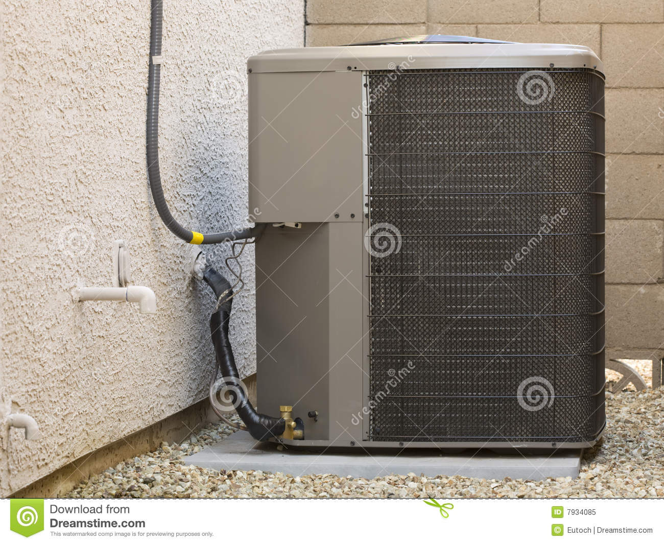 Air Conditioner Compressor Stock Image Image Of Wall