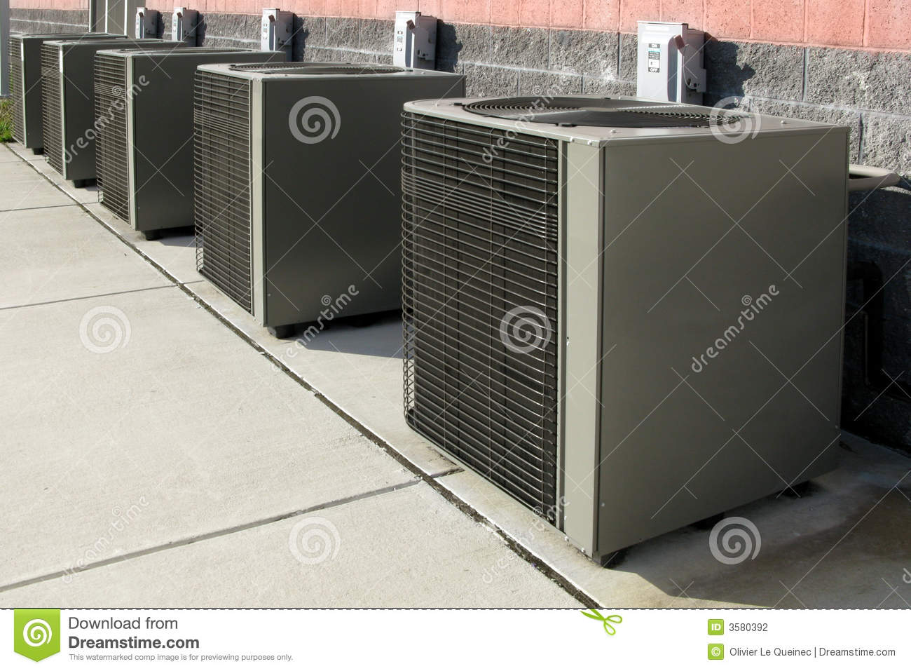 Air Conditioner Condenser Ac Cooling System Units Stock
