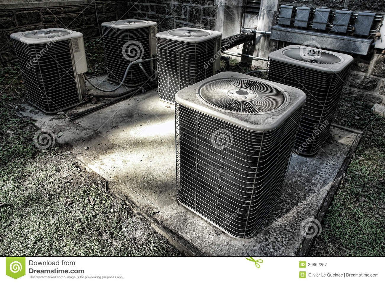 Air Conditioner Condenser Cooling Condenser Units Stock