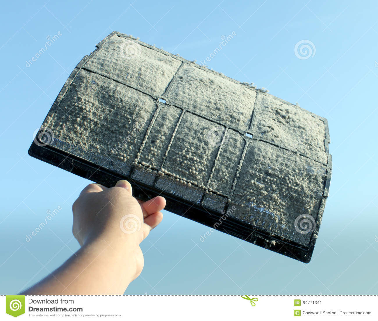 Air Conditioner Filter Dust Stock Image Image Of