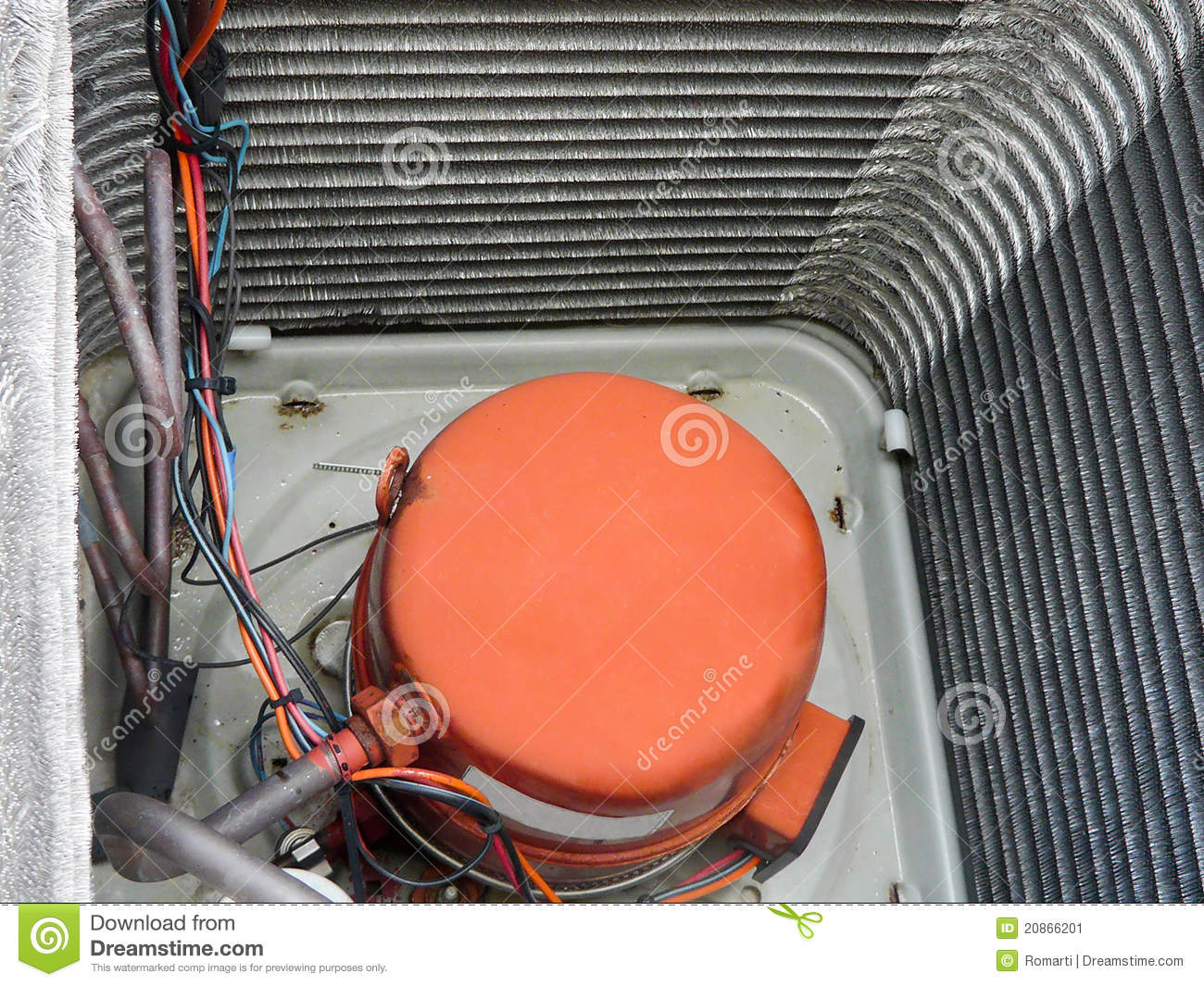 Air Conditioner Heat Pump Compressor Stock Image Image