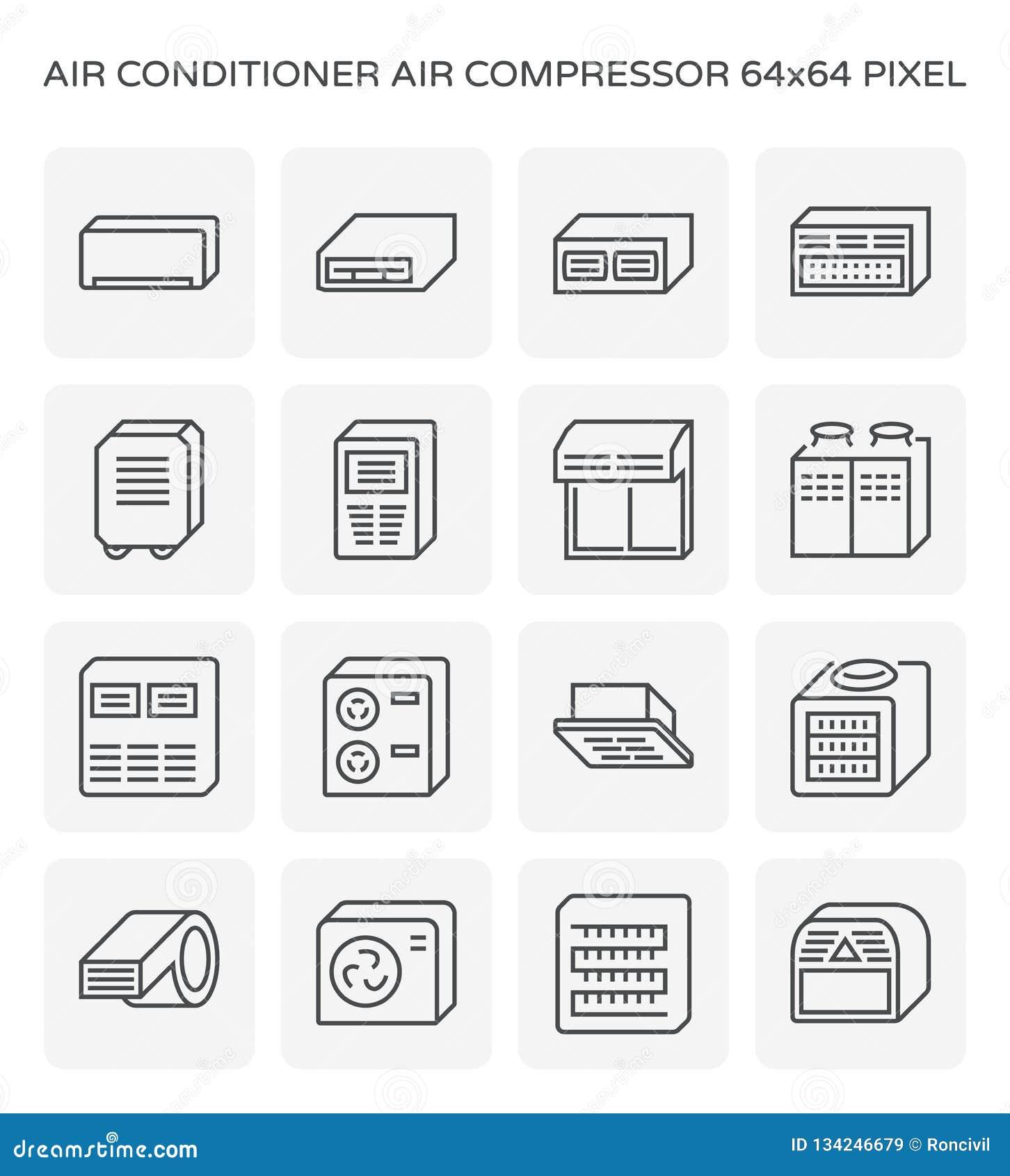 Air conditioner icon stock vector  Illustration of illustration