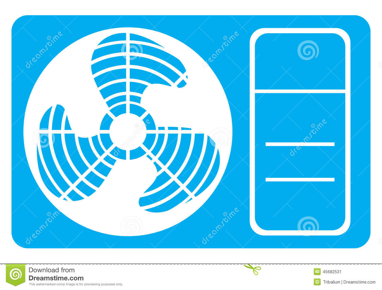 air conditioner icon stock vector
