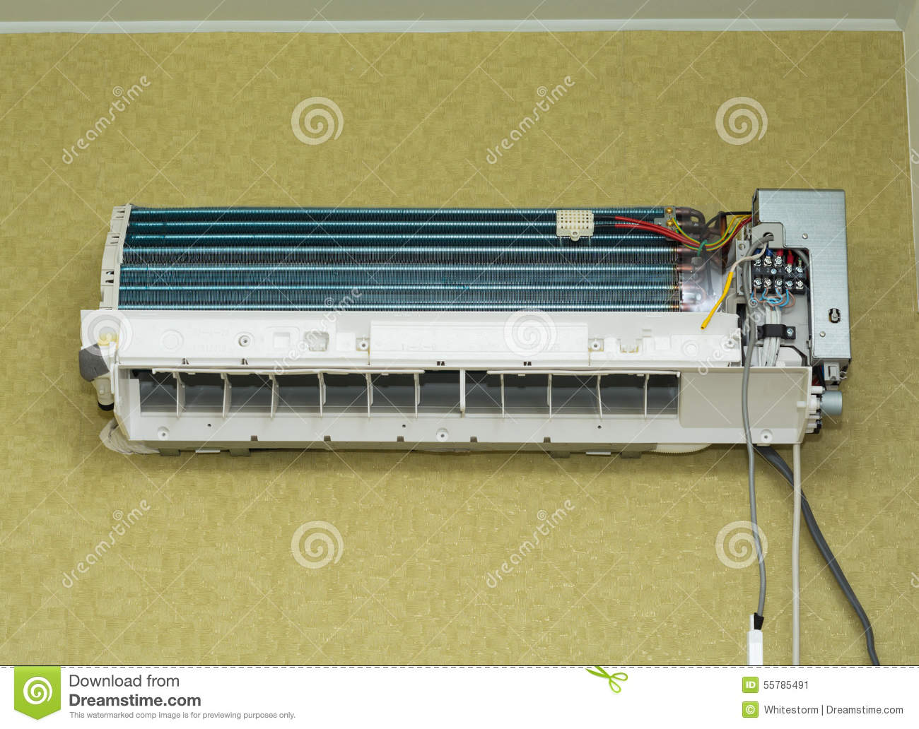 Air conditioner install on wall for condo or meeting room. #888043