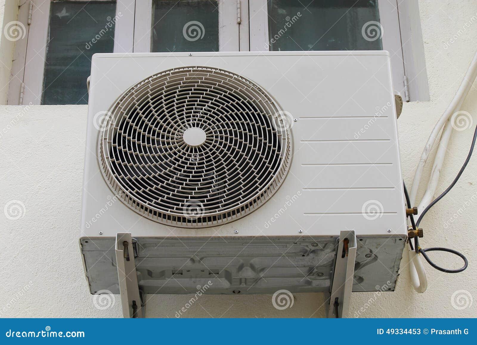 Air Conditioner Outdoor Unit Stock Image