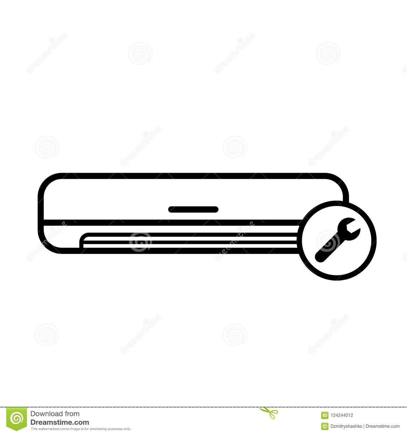 air conditioner repair icon stock vector illustration of cleaning